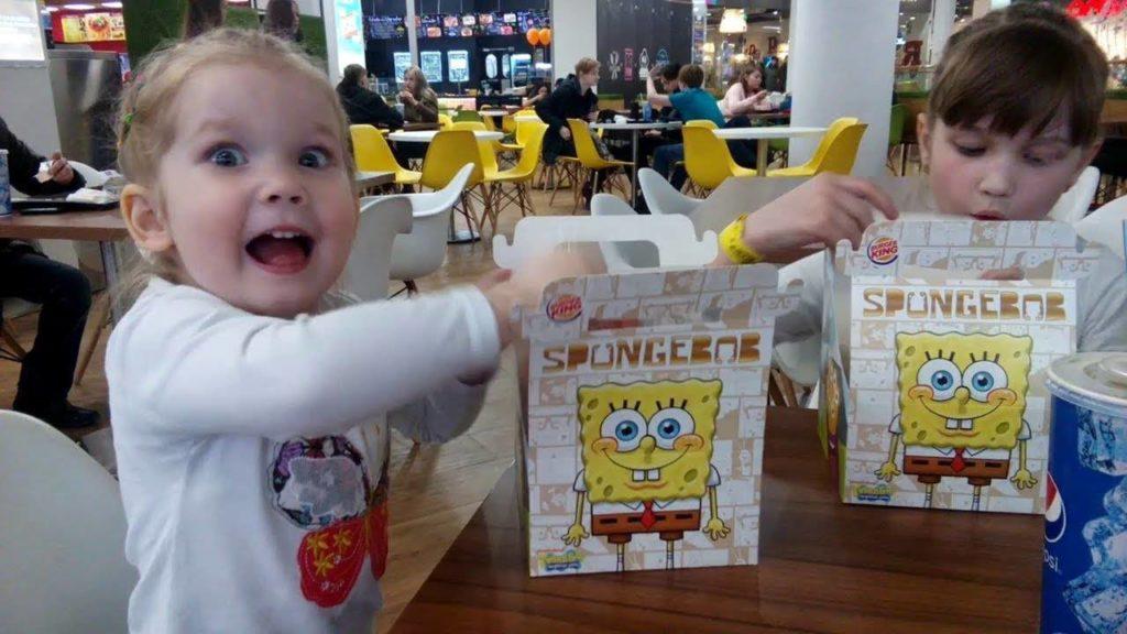 дети в Бургер Кинг